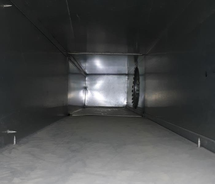 Clean duct work after Servpro cleaning