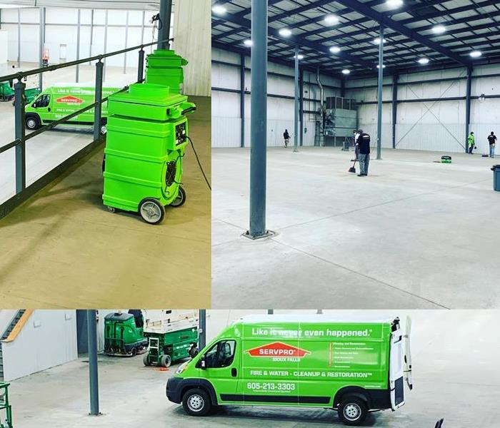SERVPRO Employees cleaning a commercial facility