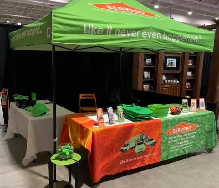 SERVPRO booth set up at Sioux Empire Home Show