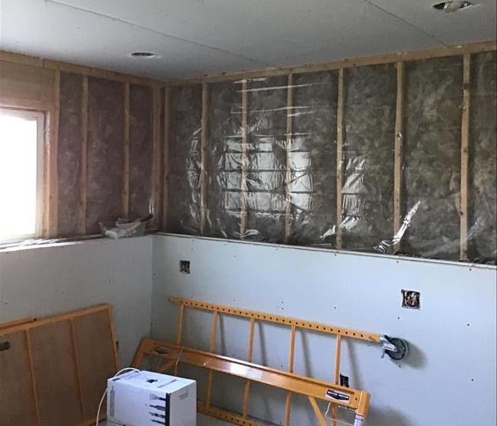 House being drywalled
