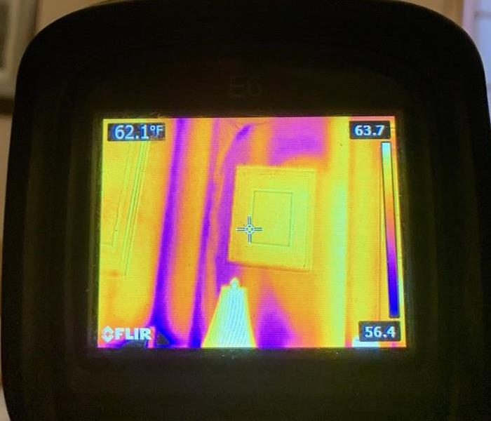 Using our Infrared camera system to track the movement of water where we can't easily access