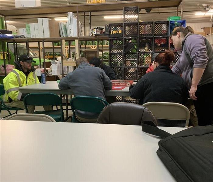 Servpro staff taking part in training