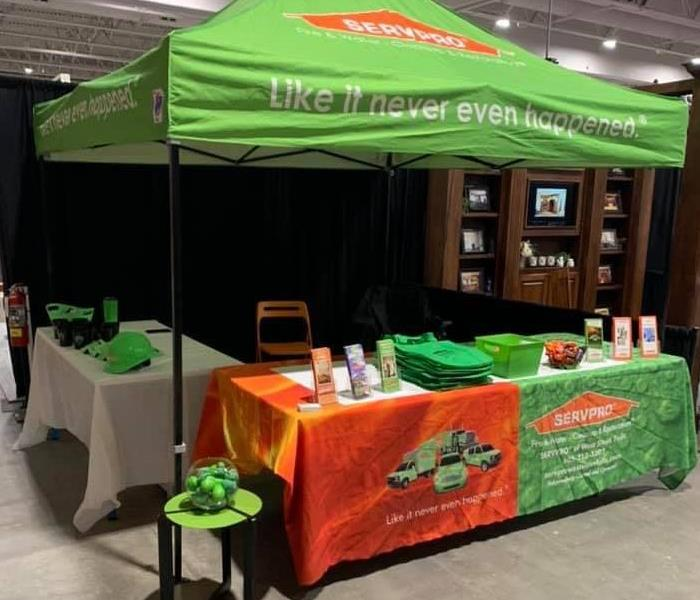 SERVPRO booth set up at trade show