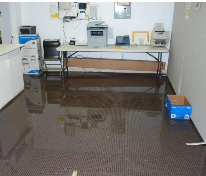 Flooded office space in Sioux Falls