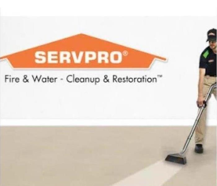 SERVPRO Technician cleaning carpet